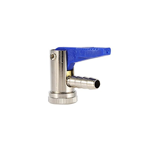 Keenso 8mm Car Motorcycle Van Bike Tyre Airline Inflator Valve Tire Air Chuck Connector Clip On Air Nozzle Pneumatic Pump Adapter ()