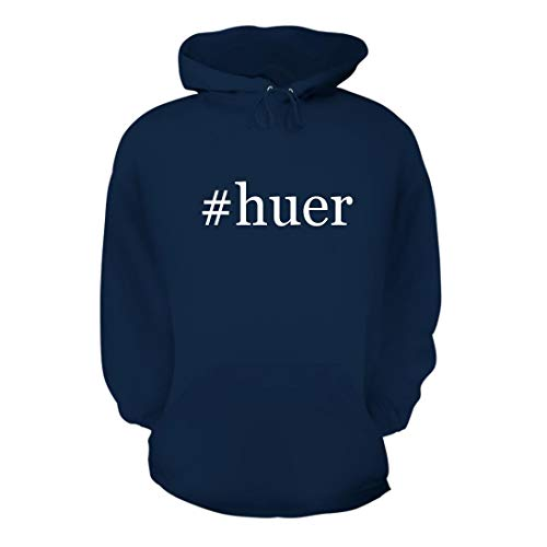 #Huer - A Nice Hashtag Men's Hoodie Hooded Sweatshirt, Navy, Large by Shirt Me Up