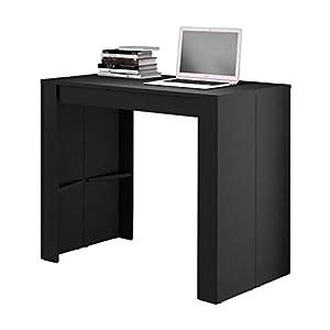GOOMY Console Extensible 180 cm noir