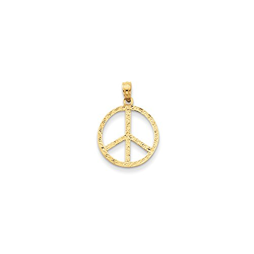 Roy Rose Jewelry 14K Yellow Gold Peace Sign Pendant