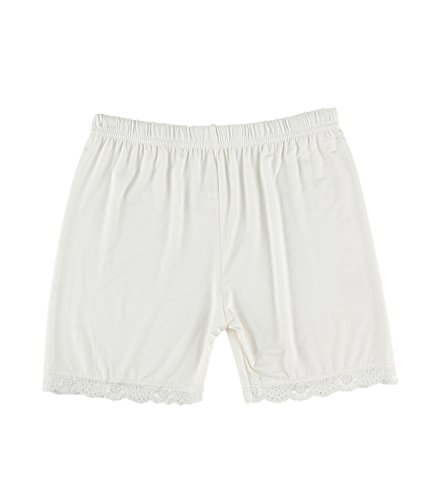 Wholesale Cotton Dresses - Liang Rou Women's Ultra Thin Stretch Short Leggings Lace Trim White L Large 1x Lace Trim White