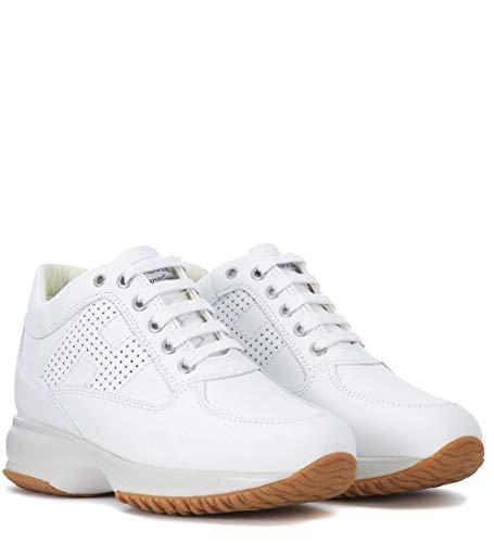 Cuero Zapatillas Blanco de para Mujer Bianco Hogan x1f7wx