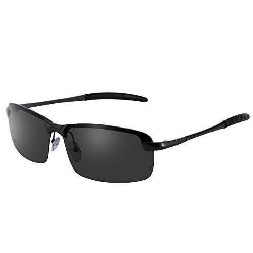 Polarized Sunglasses for Men and Women UV400 Protection for Driving and Cycling (Black frame + black - Best For Police Sunglasses