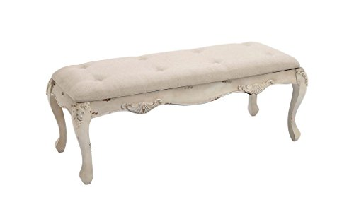 Deco 79 97196 Wood Fabric Bench, 48