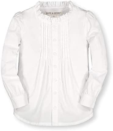 Hope & Henry Girls` Long Sleeve Button Down Pleated Blouse