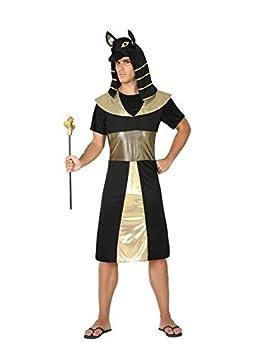 DISBACANAL Disfraz de Egipcio Negro para Hombre - Único, M-L ...