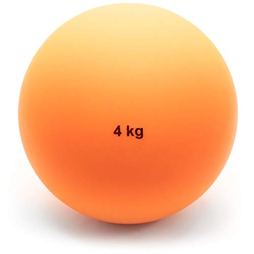 Crown Sporting Goods 4 Kg (8.8lbs) Indoor Shot Put Ball - Indoor Track & Field Quality Shot Put Ball for Indoor Practice & Weight Training for Men & Women from Crown Sporting Goods