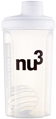 nu3 Shaker - Für Eiweiß / Protein-Shakes und andere Drinks mit Edelstahl-Federkugel und Drehverschluss