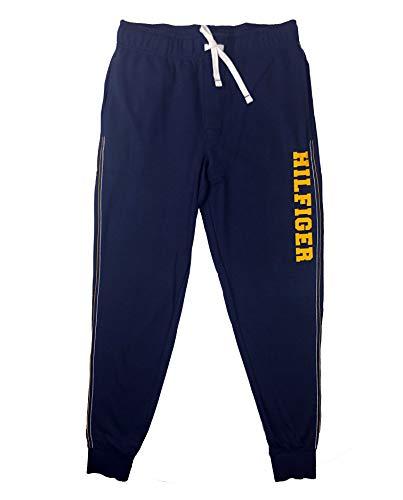 (Tommy Hilfiger Men's Cotton Logo Lounge Pant Joggers (Dark Navy, Large))