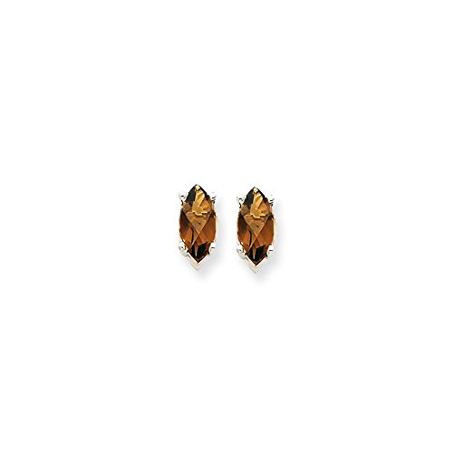 Perfect Jewelry Gift 14kw 10x5mm Marquise Smoky Quartz Earring