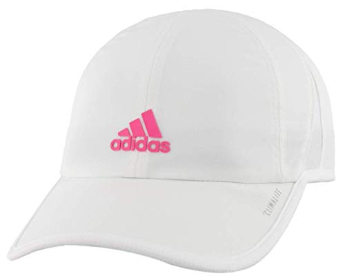 adidas Boys / Youth Superlite Relaxed Adjustable Performance Cap, White/Solar Pink, One Size