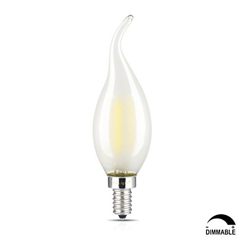 4 Pack 4w Led Filament Candelabra Bulb 40w Incandescent: From USA ˜� CRLight 4W Dimmable LED Filament Candle Light