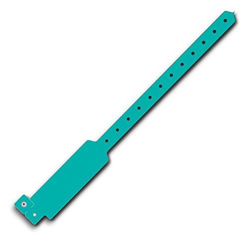 Wideface Vinyl Wristbands 500Ct Aqua