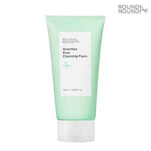 [ROUND A'ROUND] Green Tea Pure Cleansing Foam 150ml Bubble Cleansing Foam