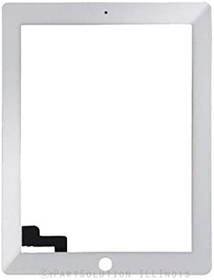 ePartSolution/_Replacement Part for iPad 2 A1376 A1395 A1396 A1397 LCD Display Touch Screen Digitizer Lens Glass USA White
