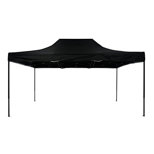 SIFTENT OTLIVE Pop Up Canopy Tent Commercial Car Shelters Wedding Party Event Outdoor Instant Folding Canopies 10×15 Feet, Black