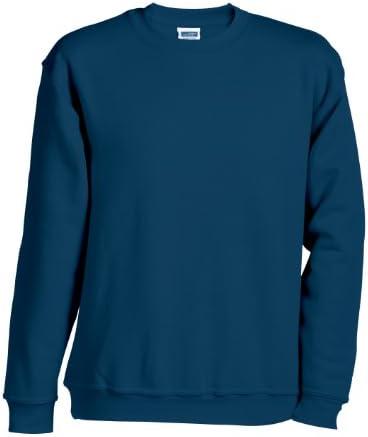 James & Nicholson Herren Sweatshirt Round Sweat Heavy 4XL,Blau - Navy