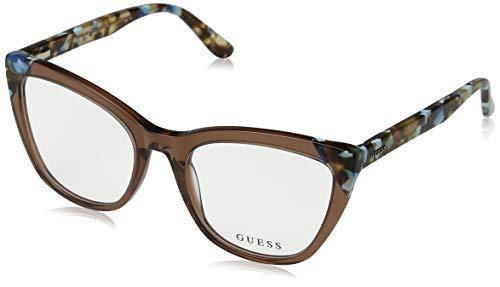 Guess GU2674 Eyeglass Frames - Shiny Light Brown Frame, Shiny Light Brown Lenses, 53 GU267453045