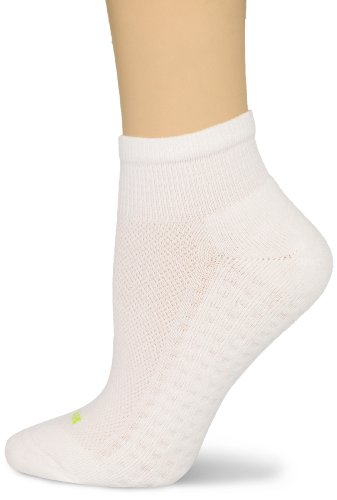 - HUE Women's Air Cushion Quarter Top Sport Socks, 3 Pair Pack, White, One-Size