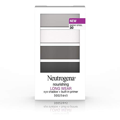 Neutrogena Nourishing Long Wear Eye Shadow + Built-In Primer, 30 Smokey Steel, .24 Oz. (Best Eyeshadow For Gray Eyes)
