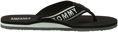 Jeans Tommy 990 Para black Chanclas Low Negro Mujer Beach Sandal 7vd1p7q