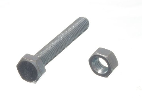 CUP SQUARE COACH BOLT M6 6MM 50MM FULLY THREADED WITH NUTSBZP pack of 25