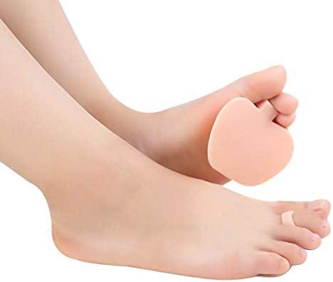 Ajiuzh vorderfußpolster aus weichem Silikon, für Vorderfußeinlagen, halbes Fußpolster, rutschfest, halbes Polster ND