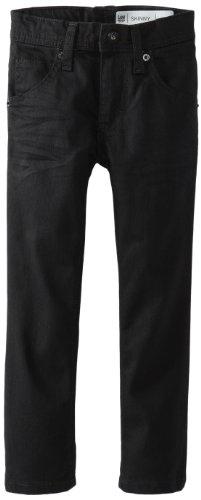 Lee Little Boys' Dungarees Skinny Straight Leg Jeans, Jet...