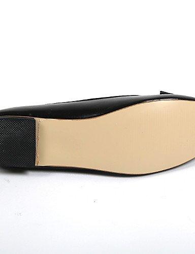PDX/ Damenschuhe-Ballerinas-Lässig-Kunstleder-Flacher Absatz-Rundeschuh / Komfort-Schwarz , black-us7.5 / eu38 / uk5.5 / cn38 , black-us7.5 / eu38 / uk5.5 / cn38