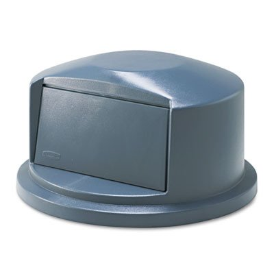 Rubbermaid 263788GY Brute Dome Top Swing Door Lid for 32-Gallon Waste Containers, Plastic, Gray