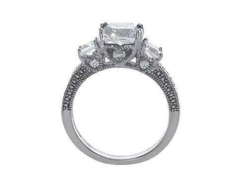 Star K 8x6mm Emerald Cut White Topaz Ring Size 7