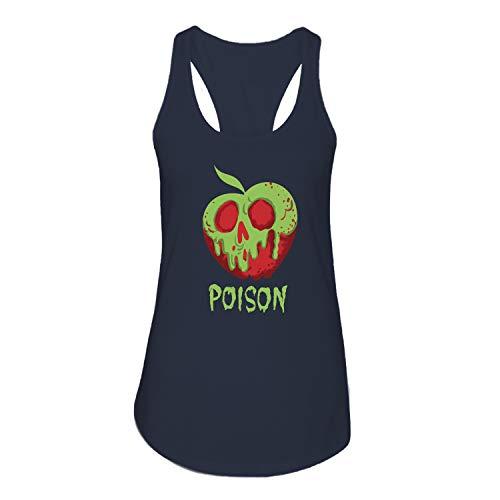 - Disney Snow White Poison Apple Comfy Princess Disneyland World Tee Funny Graphic Womens Tank Top T-Shirt (Navy,Small)