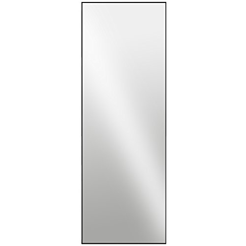 Raphael Rozen - Modern Hanging Framed Wall Mounted Metal Mirror, (60x20, - Kinds Different Of Mirrors Bathroom