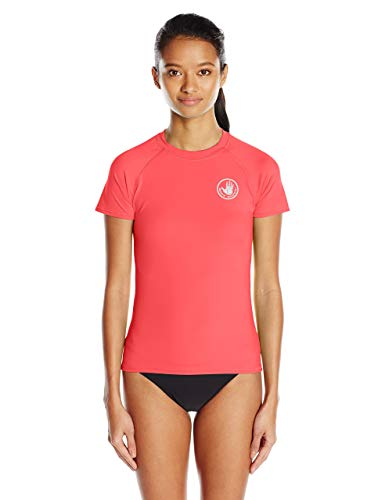 - Body Glove Women's Smoothies in-Motion Solid Short Sleeve Rashguard with UPF 50 Diva, Small