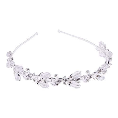 (Vintage Wedding Bridal Headband Crown Tiara Crystal Silver Hair Accessories)