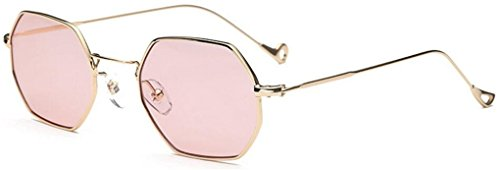 GAMT Square Personality Sunglasses for Womens and mens Street Style with Flat Mirror Gold - Face Shape Guide Eyewear