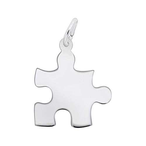 Rembrandt Charms Sterling Silver Puzzle Piece Charm