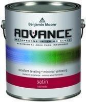Benjamin Moore Advance Waterborne Satin Paint Quart -