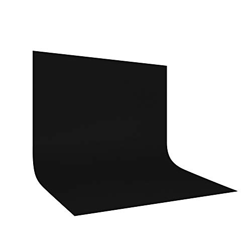 UTEBIT 10x10FT Backdrop for Pictures Collapsible Black Photo
