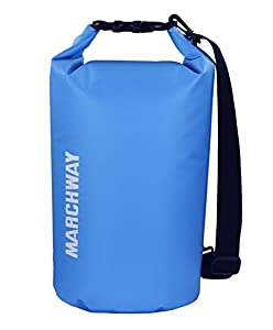 MARCHWAY Floating Waterproof Dry Bag 5L/10L/20L/30L, Roll Top Sack Keeps Gear Dry for Kayaking, Rafting, Boating, Swimming, Camping, Hiking, Beach, Fishing, Sport (Light Blue, 20L)