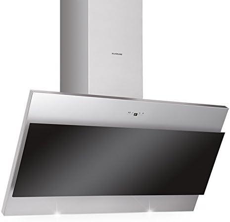 Silverline Taurus 500 m³/h De pared Negro, Acero inoxidable - Campana (500 m³/h, Canalizado/Recirculación, 49 dB, 45 cm, 65 cm, De pared): Amazon.es: Hogar