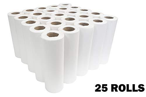 DevLon NorthWest Chiropractic Headrest Paper Rolls 8.5 inches x 225 feet 25 Rolls Premium White 100 Percent Virgin Pulp 22grams