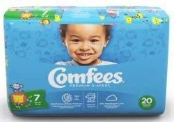 ATTENDS Baby Diaper Comfees Tab Closure Size 7 Disposable (#CMF-7, Sold Per Case) ()