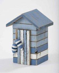 Giftworks Azul y Blanco, diseño de caseta de Playa Decorativa Caja: Amazon.es: Hogar