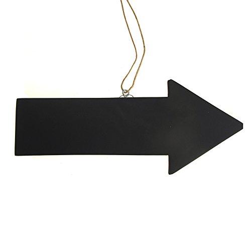 Homeford Hanging Wood Chalkboard Arrow Sign, Black, 12-Inch -