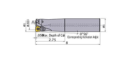3 Carbide Inserts Mitsubishi AJXU08R163SA16M Series AJX Face Milling Right Hand Long Shank Type 1.00 Cutting Diameter 8.000 Length