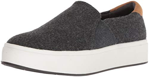 Dr. Scholl's Shoes Women's Abbot Sneaker, Dark Charcoal Wool Fabric, 6.5 M US