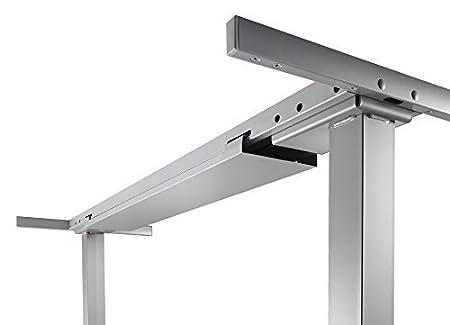 Elektrisch höhenverstellbares Tischgestell (stufenlos) für Tisch mit Winkelform 90° (200x120 cm), Arbeitshöhe 62,5 - 127,5 cm