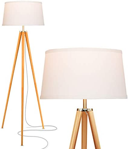 Brightech Emma Tripod Floor Lamp Mid Century Modern Standing Light