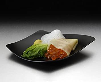 Design Teller degustation design teller schwarz 100 stk amazon de küche haushalt